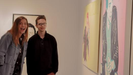 My friend Brandon and I admiring art.