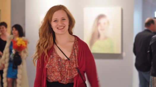 "My beautiful friend Charis at the ""Continuum"" exhibition"